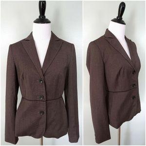 BANANA REPUBLIC Brown Career Blazer Size 2 EUC